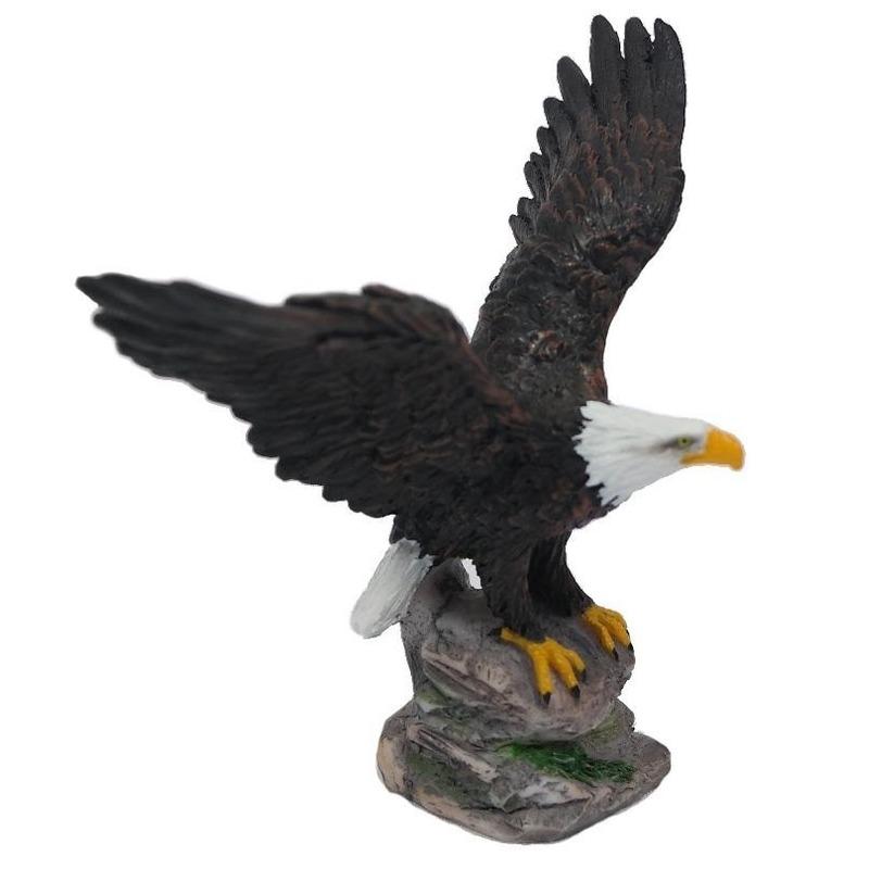 Mini beeldje Amerikaanse zeearend roofvogel 11 cm