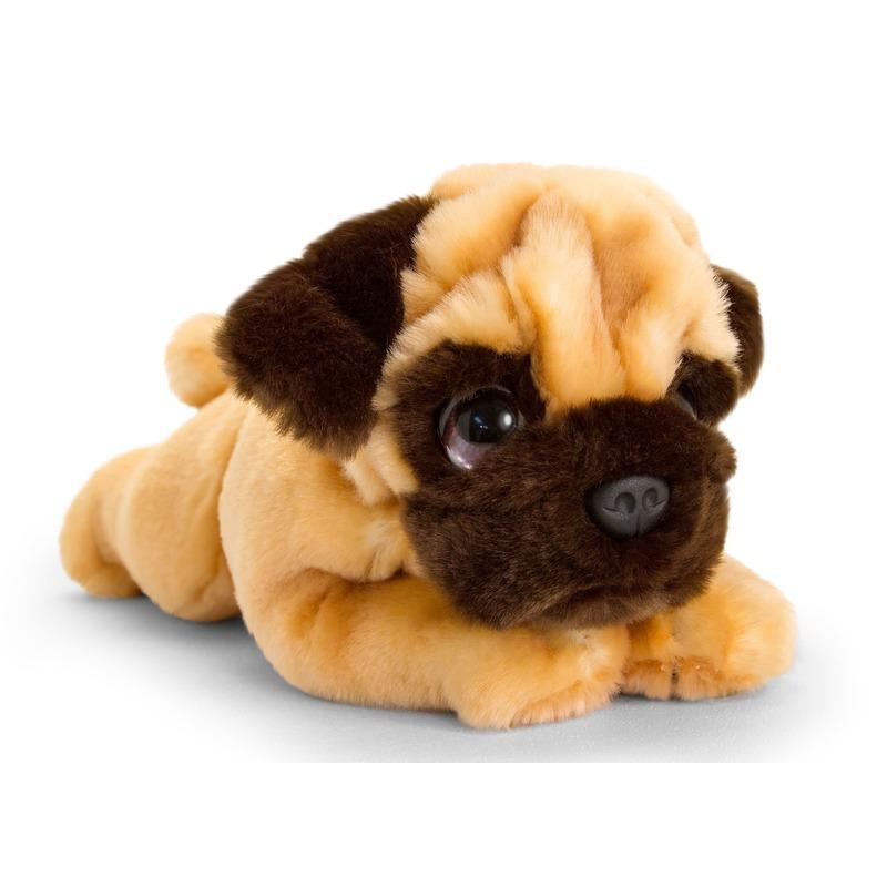 Mopshond honden knuffeldier 25 cm