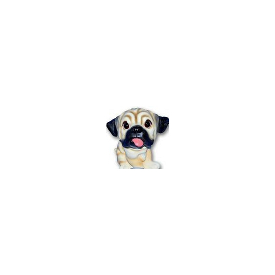 Mopshond puppy beeldje zittend 13 cm