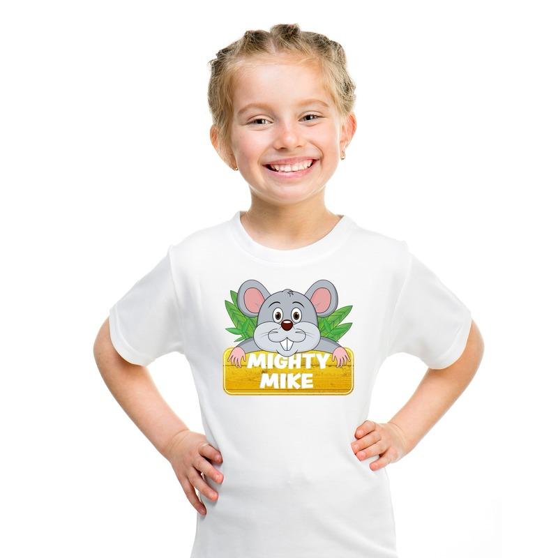 Muizen dieren t-shirt wit voor kinderen