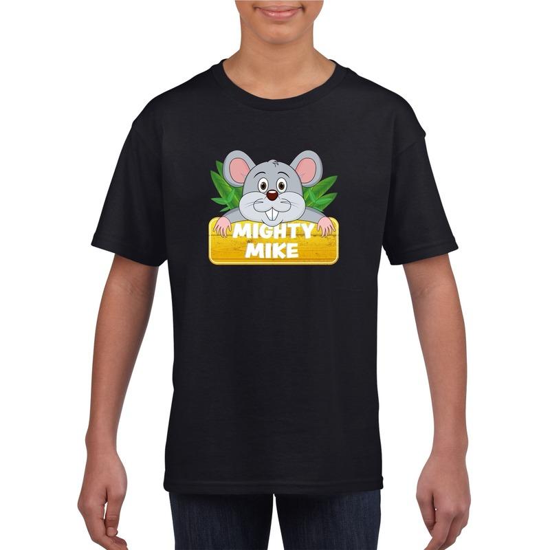 Muizen dieren t-shirt zwart voor kinderen