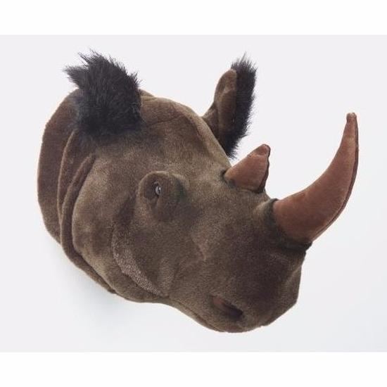 Afbeelding Neushoornkop voor aan de muur door Animals Giftshop
