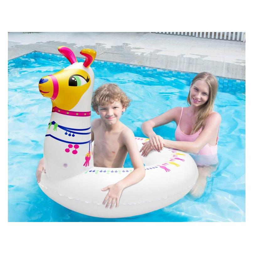 Opblaas alpaca/lama dieren 96 cm zwemband/zwemring