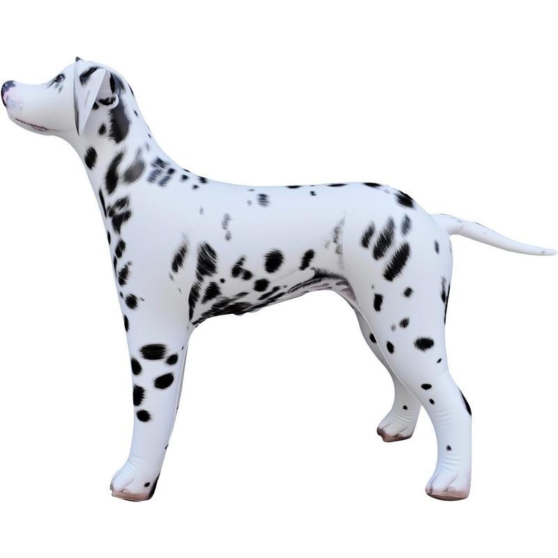Opblaas Dalmatier hond dieren 75 cm realistische print