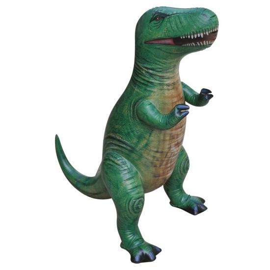Opblaas T-Rex dino groen 41 cm