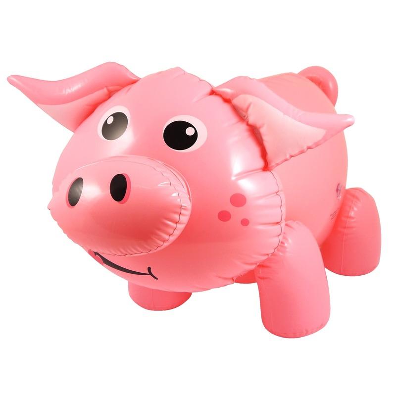 Opblaasbare varken/big roze 55 cm
