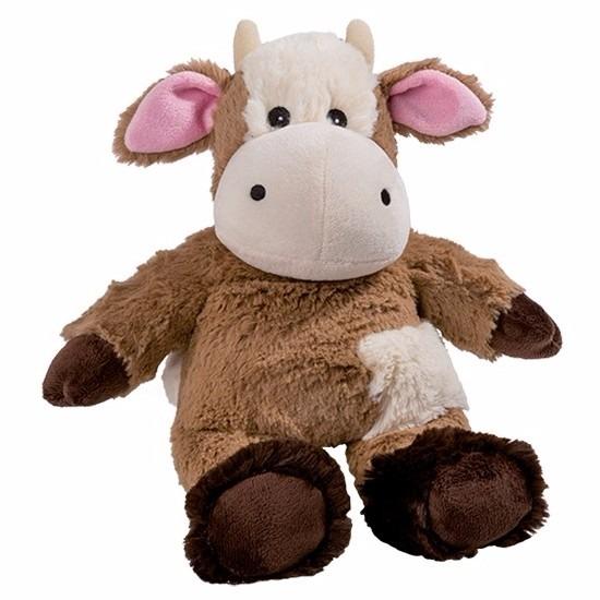 Opwarmbare knuffel koe