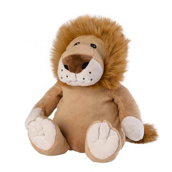 Opwarmbare knuffel leeuw