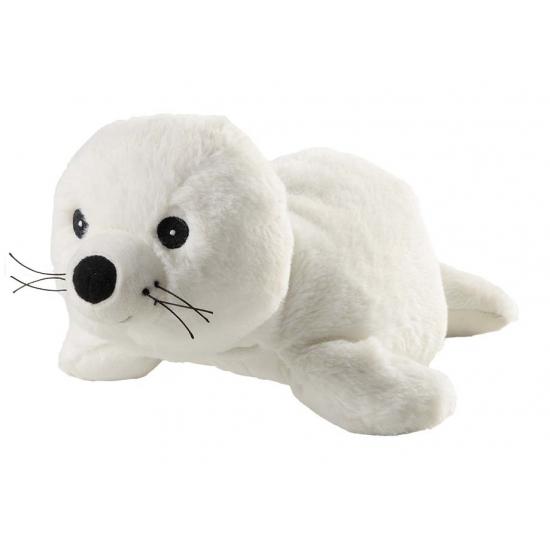 Afbeelding Opwarmbare knuffel zeehond wit door Animals Giftshop