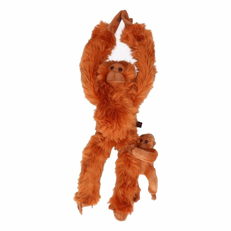 Afbeelding Orang Oetan aap met baby knuffel 44 cm door Animals Giftshop