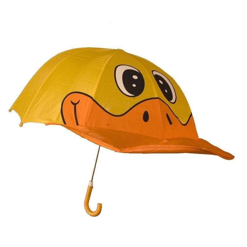 Oranje/gele meisjes paraplu