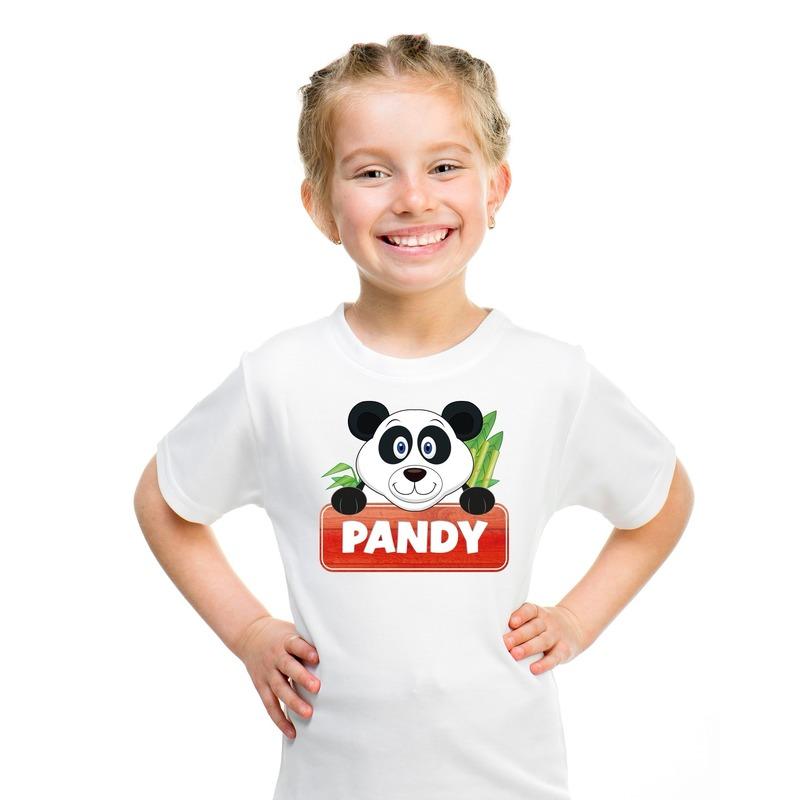 Panda dieren t-shirt wit voor kinderen
