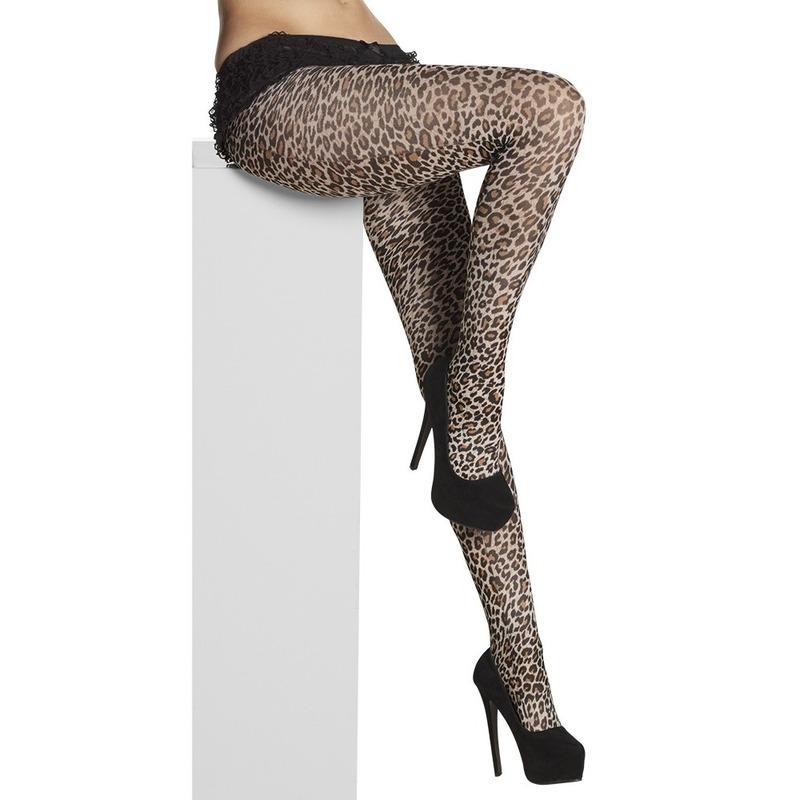 Panty met luipaarden/panters stippen voor dames