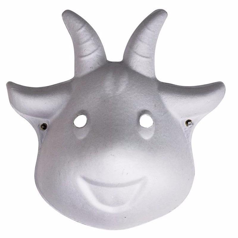 Papieren geiten masker 22 cm