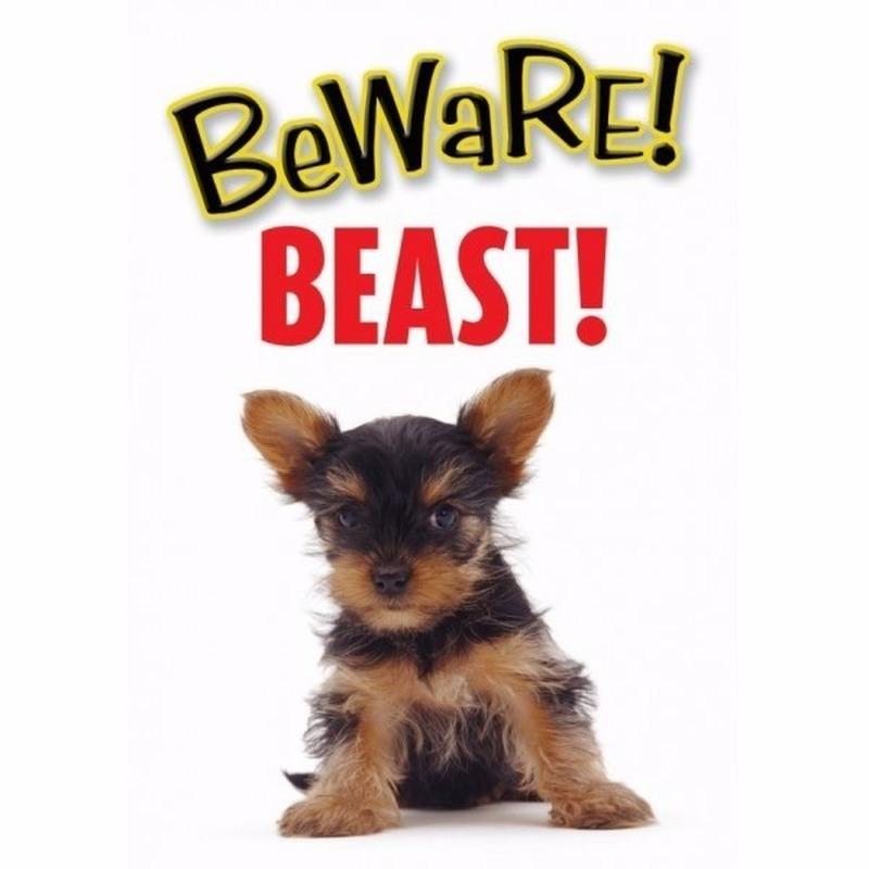 Pas op voor Beast bordje