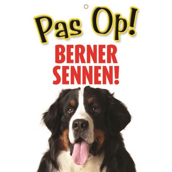 Pas op voor Berner Sennen bordje