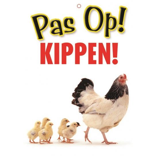 Pas op voor Kippen bordje
