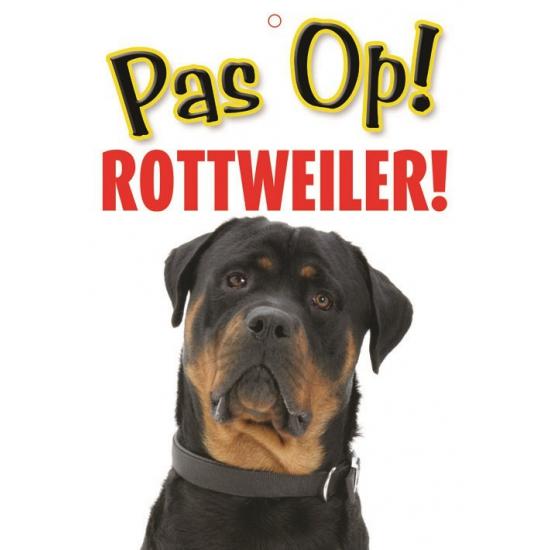 Pas op voor Rottweiler bordje