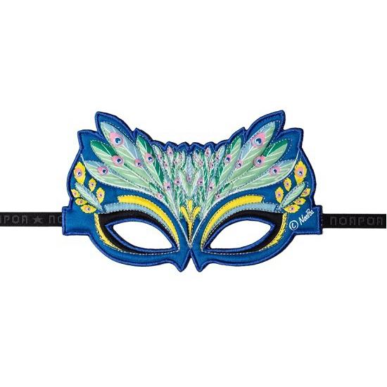 Pauwen oogmasker blauw