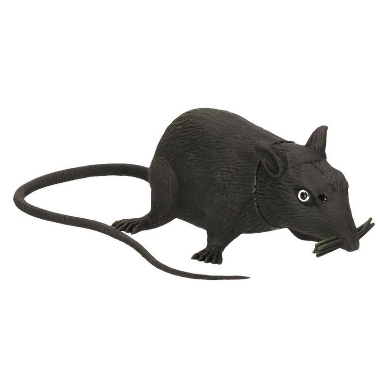 Piepende rat halloween decoratie 13 cm