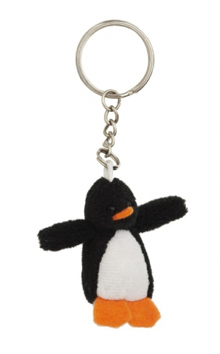 Pinguin knuffels sleutelhangertjes 6 cm