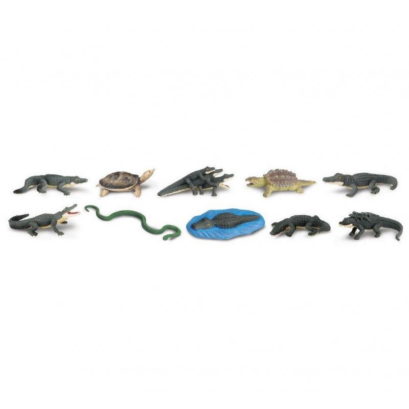 Plastic alligators 12 stuks