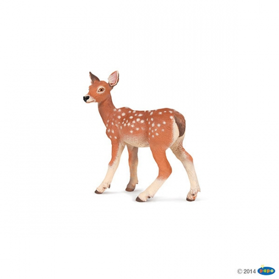 Plastic hertje speeldiertje 6 cm