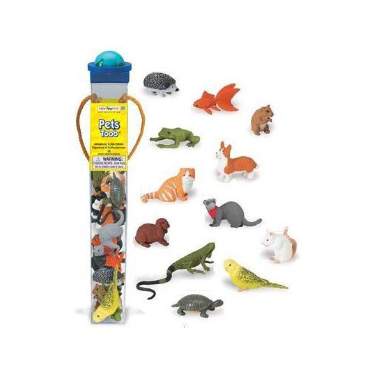 Afbeelding Plastic huisdiertjes 12 stuks door Animals Giftshop
