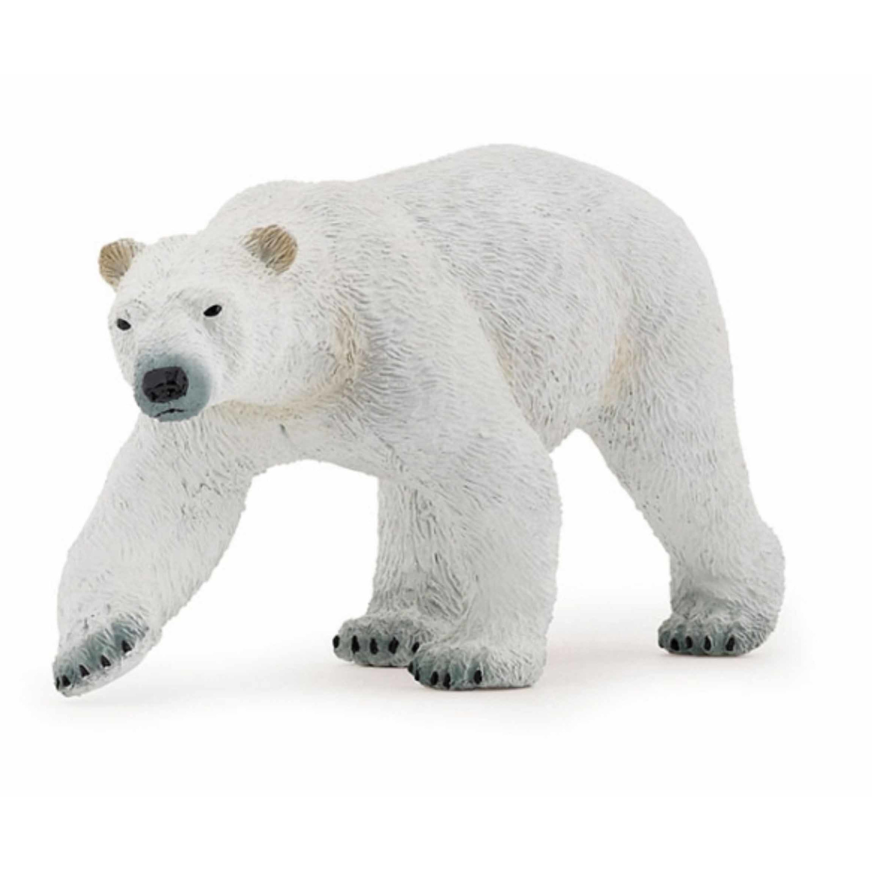 Plastic ijsbeer speeldiertje 14 cm