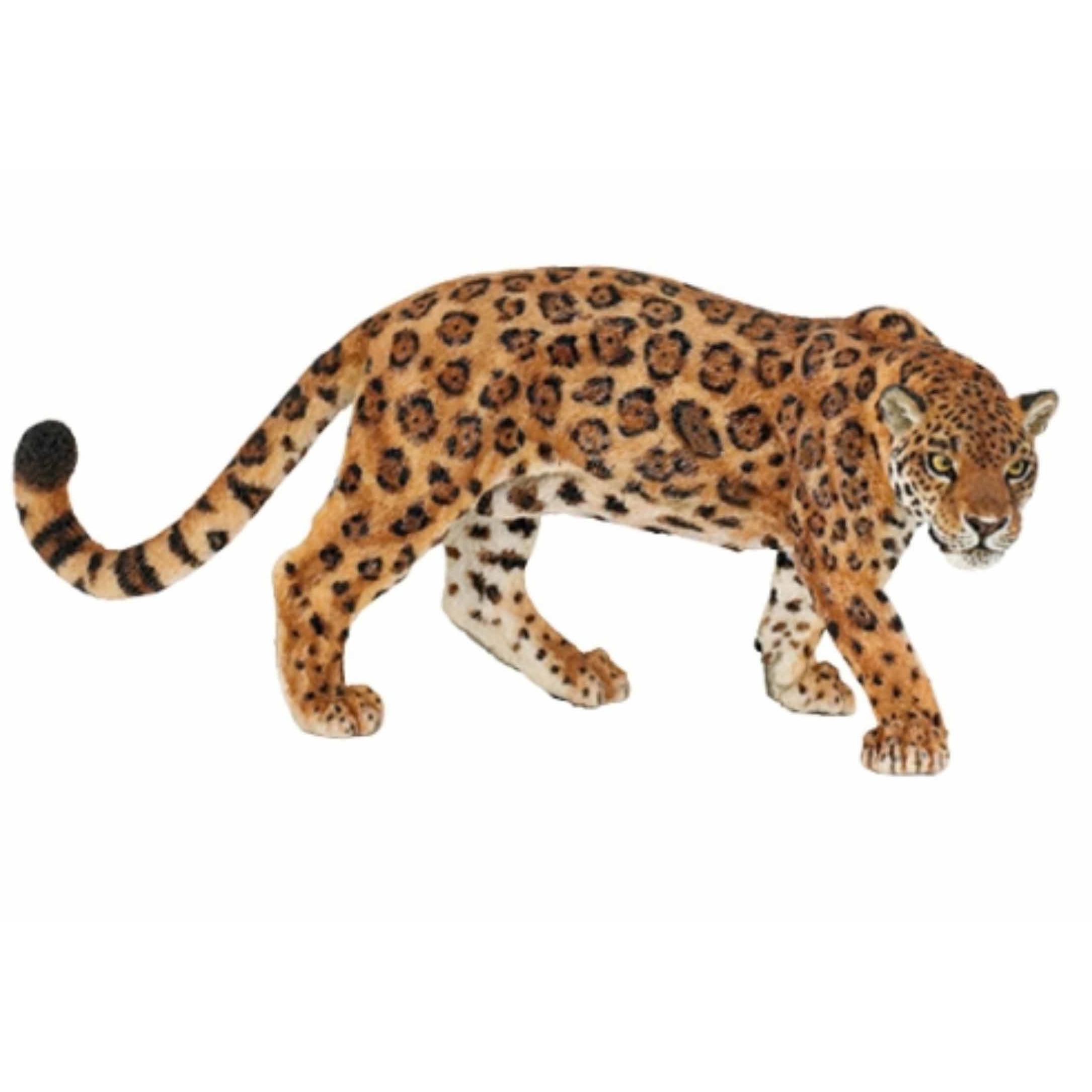 Plastic jaguar speeldiertje 11 cm