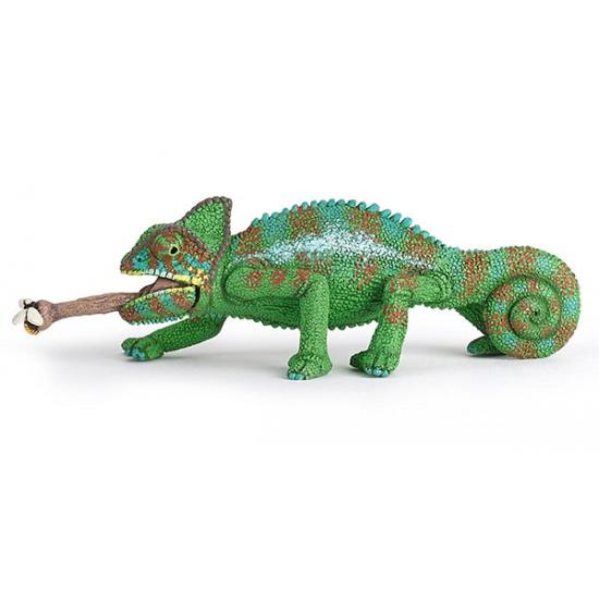 Plastic kameleon speeldiertje 4 cm