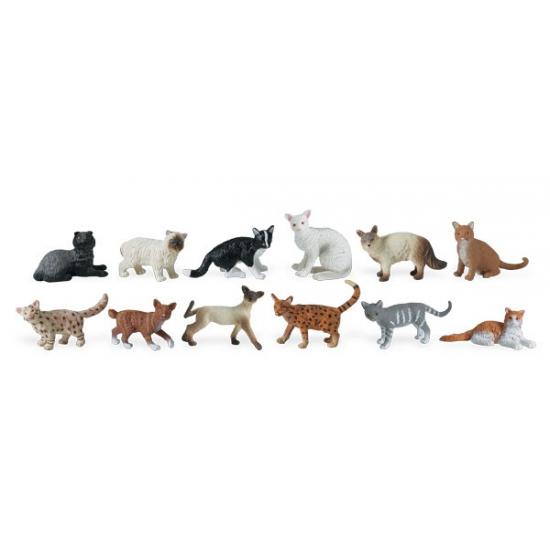 Plastic katten katen 11 stuks