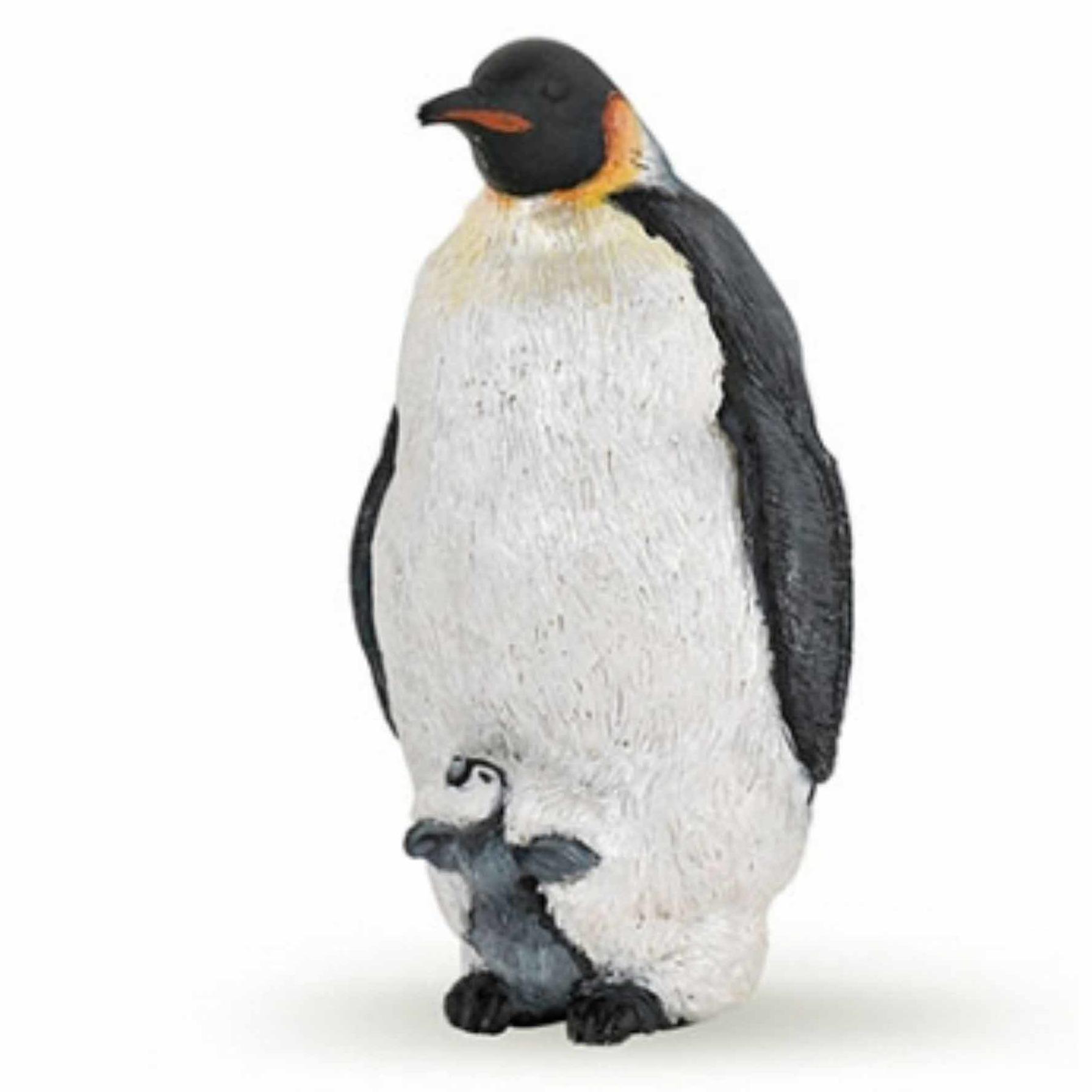 Plastic keizer pinguin speeldiertje 4 cm