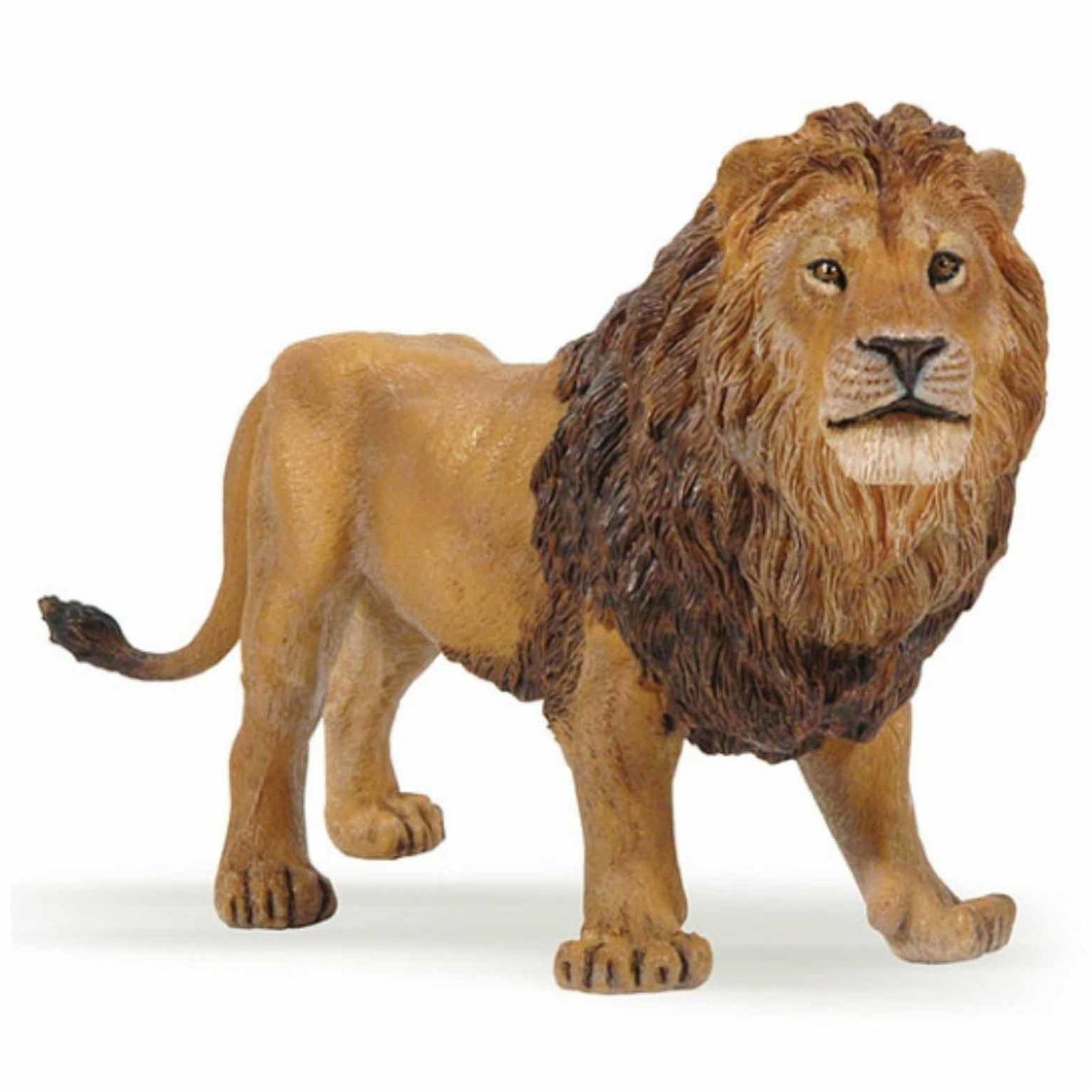 Plastic leeuw speeldiertje 14 cm