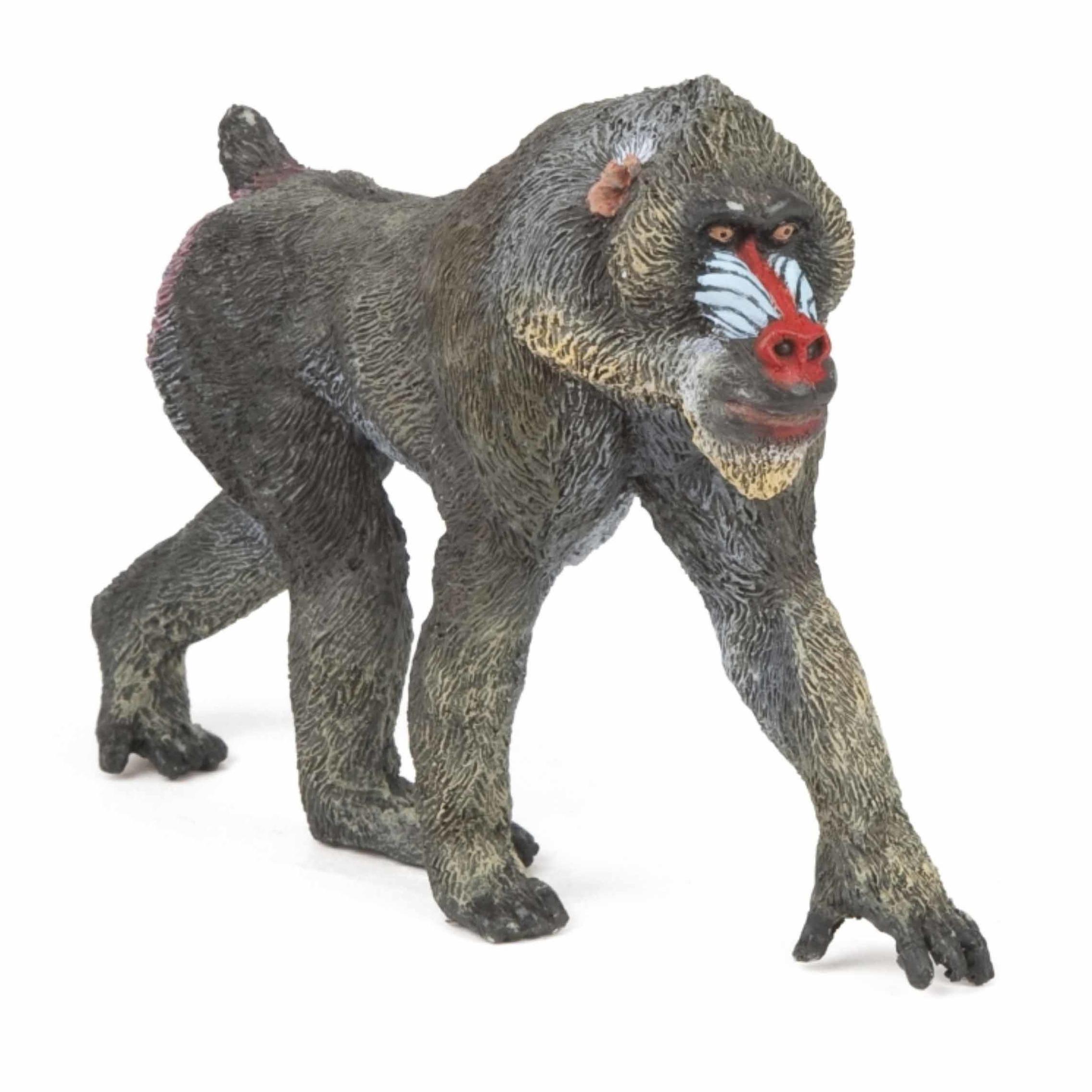 Plastic Mandrill baviaan speeldiertje 10 cm