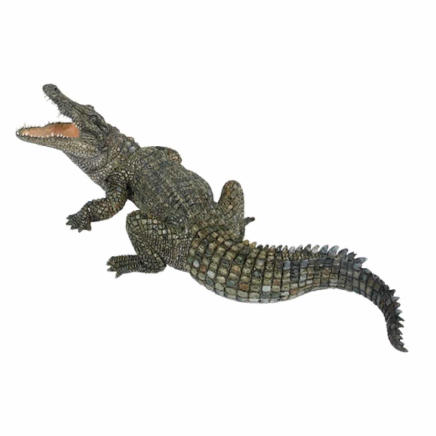 Plastic nijl krokodil speeldiertje 21 cm