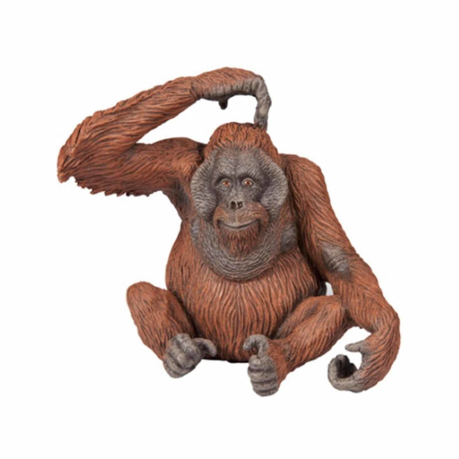 Plastic orang-oetan speeldiertje 9 cm