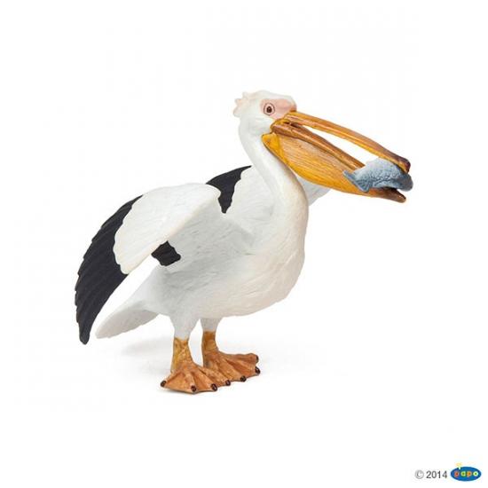 Plastic pelikaan speeldiertje 11 cm