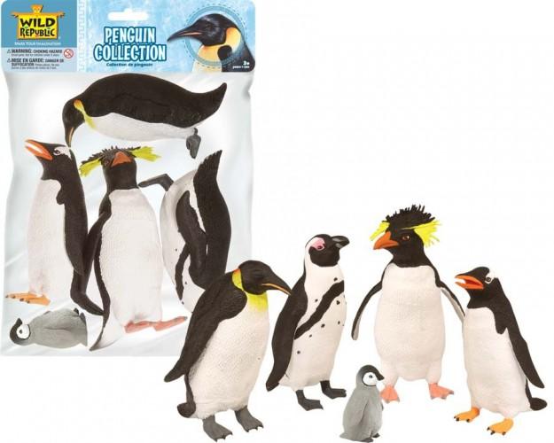 Plastic pinguins voor kinderen 5 stuks