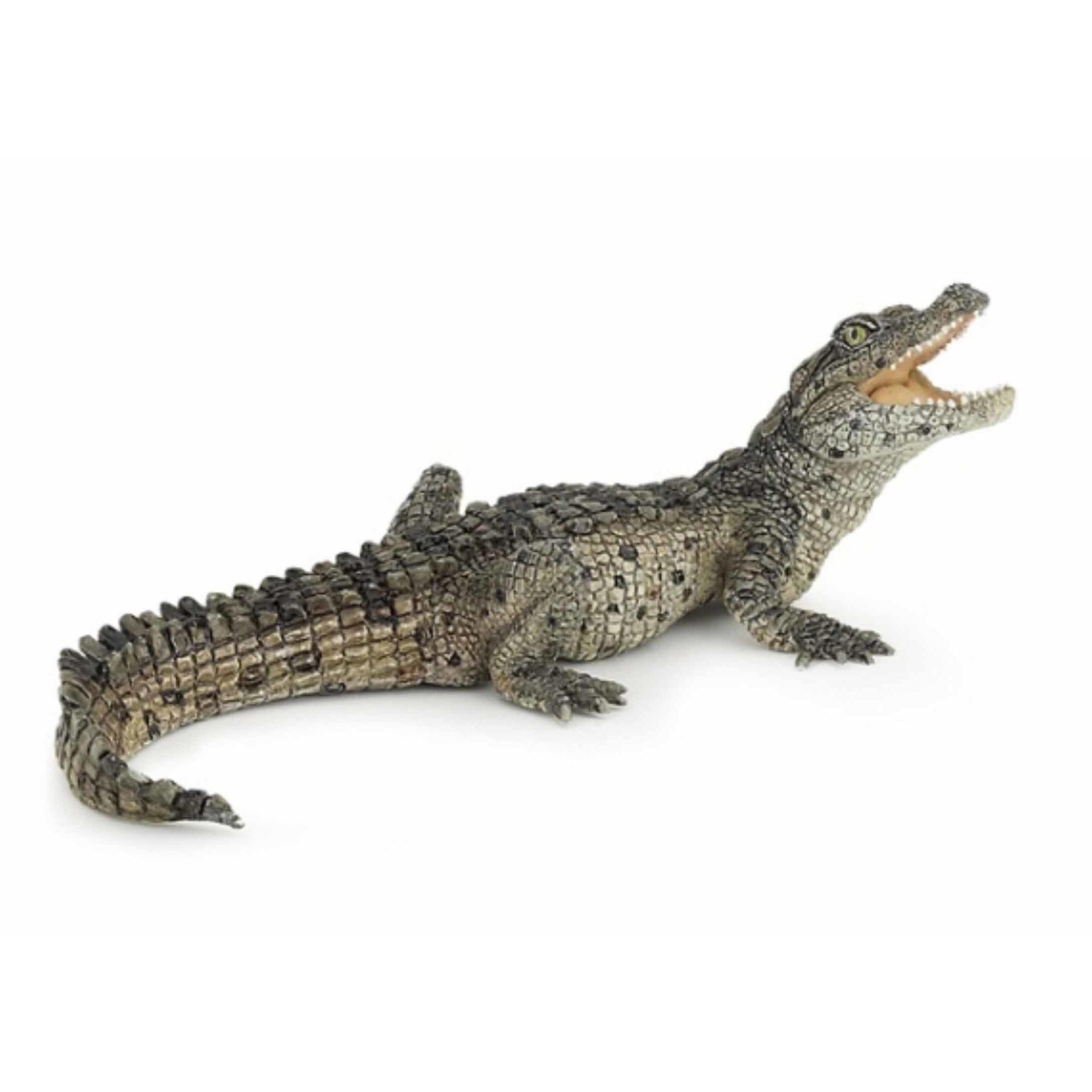 Plastic/rubber mini krokodil speeldiertje 10 cm