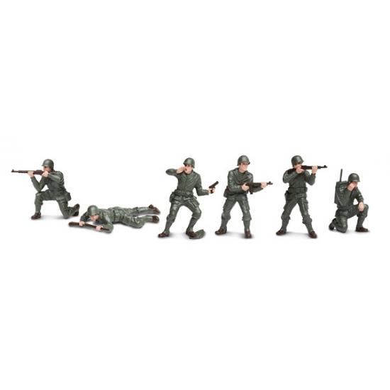 Plastic speelgoed soldaten 6 stuks