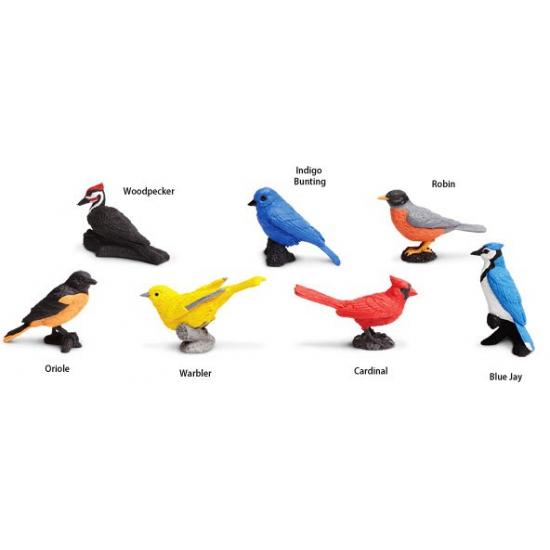 Plastic speelgoed vogels