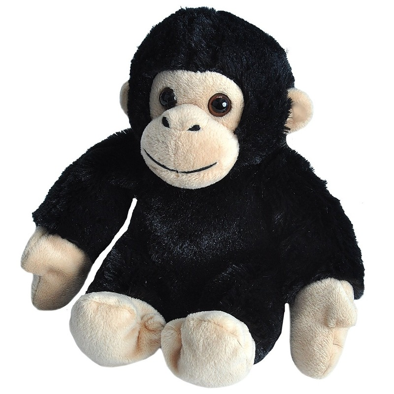 Pluche baby chimpansee aap dierenknuffel 18 cm
