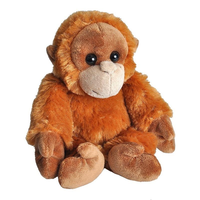 Pluche baby orang oetan aap dierenknuffel 18 cm