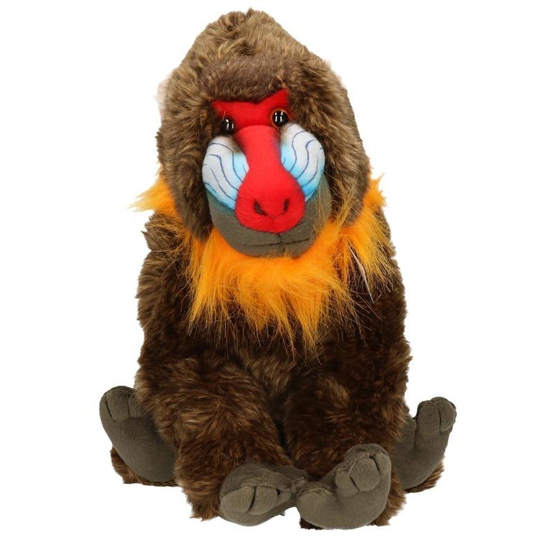 Pluche baviaan aap knuffel 30 cm