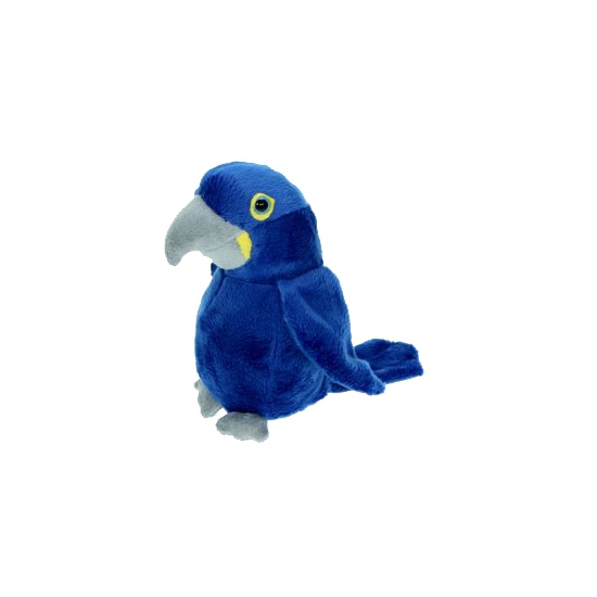 Pluche blauwe ara knuffel 16 cm