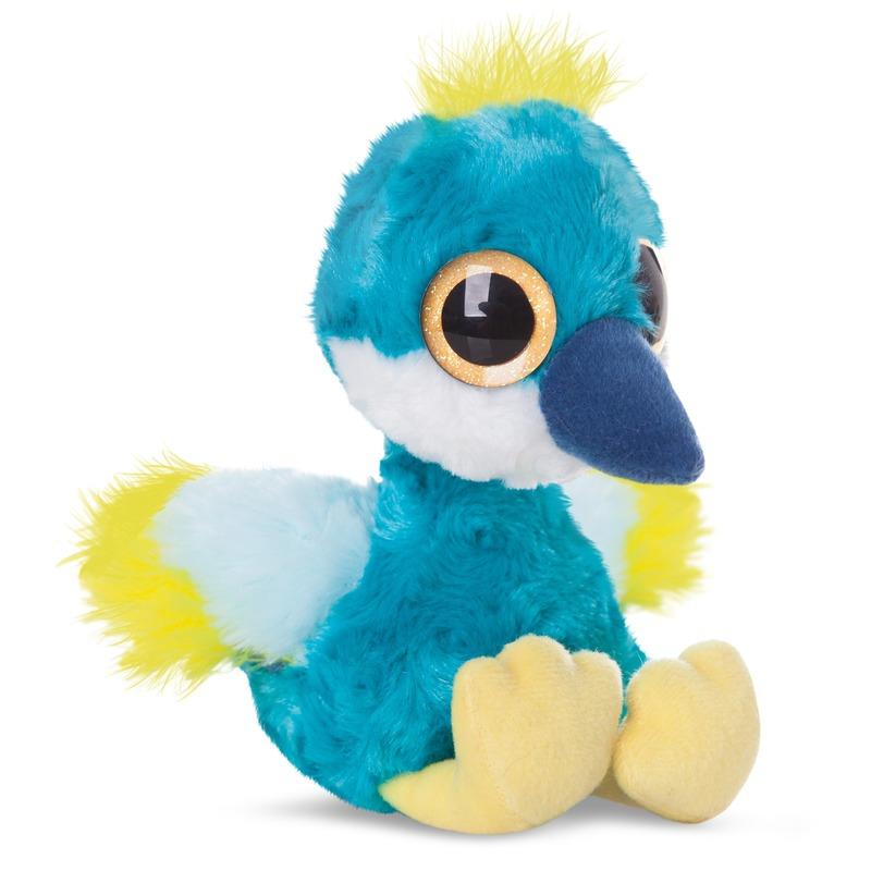 Pluche blauwe kraanvogel knuffeldier 20 cm