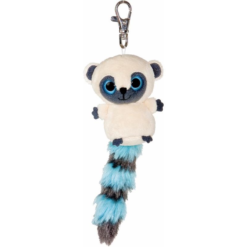 Pluche blauwe nacht aap sleutelhanger 7,5 cm