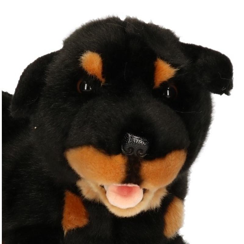Pluche bruin/zwarte Rottweiler