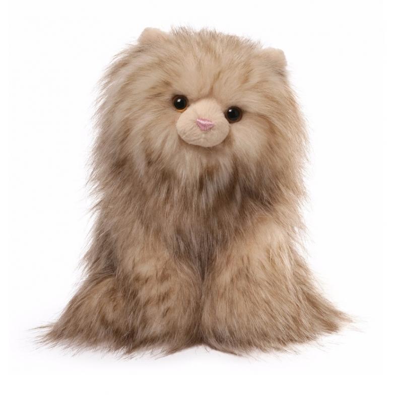 Pluche bruine katten knuffel 22 cm